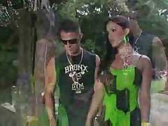 Hot latina Ts in outdoor wild scenes