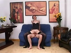 Euro Mature in Sexy Lingere has Anal sex in the Office
