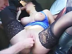Fisting - Chubby with perfect Areolas