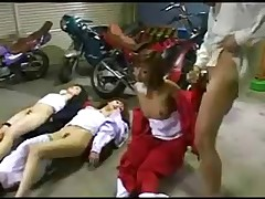 Biker Dude Stops Time and Takes 3 Girls by snahbrandy