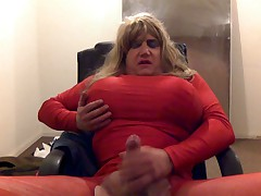 Sissy fagot moaning till she cums