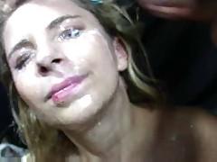 Big Tits Blonde Massive cumshots