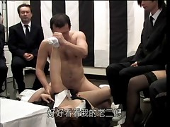 Delivery man at japanese funeral