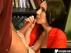 Brunette fucks her boss