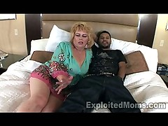 50yr old Granny 1stTimmer in Interracial Amateur Video