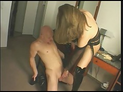 Hot shemale use lucky guy...
