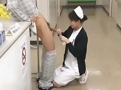 Duteous Japanese Nurse Military talents Patient respecting Public Hospital
