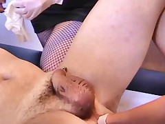 Lisa Berlin trains Sex Slave with Giant Strap-on's