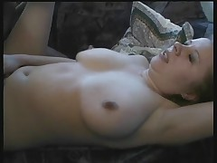Busty german milf shows off and gets a fuck