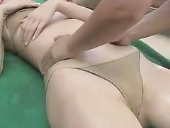 Japanese idol Reon Kadena busty massage