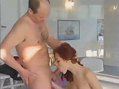 German redhead fucked in gym (full version)