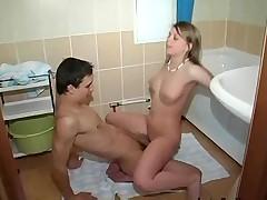 teen bathroom sex