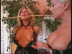 Master and mistress punisch one bitch slave