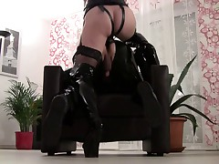 Strapon slave training by Lady-Nikia