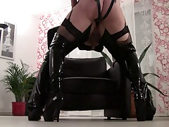 Strapon slave training by Lady-Nikia