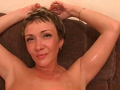 Hot Milf Lisa Gets Facsimile Penetration And Bukkake At Accommodation billet