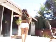Tranny fucks brazilian girl