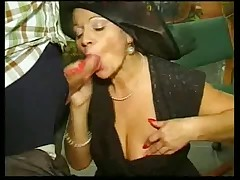 Busty german whore gets ganged
