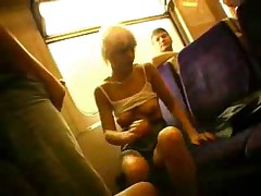 Extreme bring in b induce sex on train!