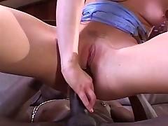 Horny Aurora having fun with Wesley's huge dick