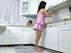 pregnant fuck in transmitted less kitchen