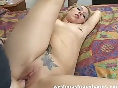 Audrey Blonde Slut Fucked Hard Cumshots