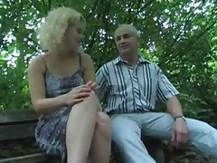 German Slut Jerking a Lot of Men - by TLH