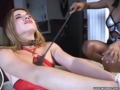 Blonde Tgirl Giving Blowjob