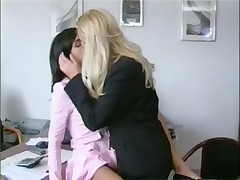 Naughty girls at the office