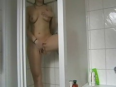 Masturbation and shagging prevalent the shower - german - csm