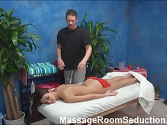 Massage Therapist Seduces Hot Girl