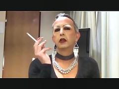 Smoking sissy slut