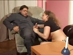 Busty mature gets banged