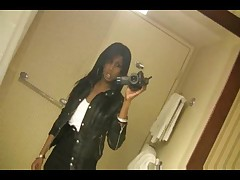 Perfect chocolate tgirl in her erotic life
