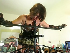 Little Miss Christi fucked plus spanked off out of one's mind robotic machines