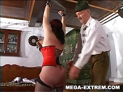 Strange pussy weights and big anal toy for slut Heydi