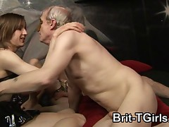 Amateur British Tranny Gangbang part 2