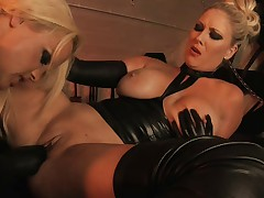 British Lesbians Michelle and Frankie in lesbian action