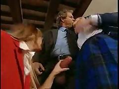Italian anal threesome
