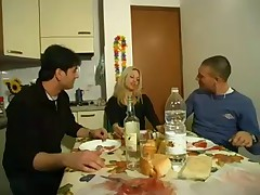 Blonde Italian Milf in 3some by snahbrandy