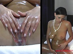 Anita Queen Getting Slicky with (Oiled Pussy and Big Boobs)