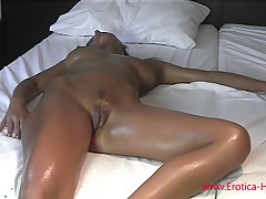 Anita Queen Getting Slicky give (Oiled Pussy and Big Boobs)