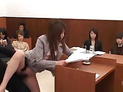 Japanese lawyer gets fucked by shadow
