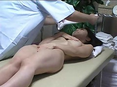 Japanese girl massaged and fucked lustily