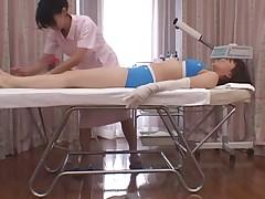 Massage of the hand(censored)