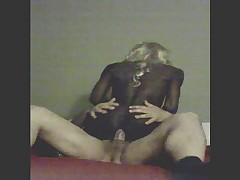 Faggyboi Rides Big White Cock
