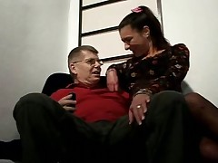 Wife fucks older man
