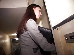 Hot German chick catches a guy jerking and gives him ass..RDL