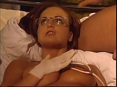 Hot hungarian nurse double penetration