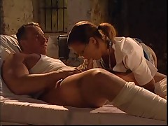 Hot hungarian nurse double penetration